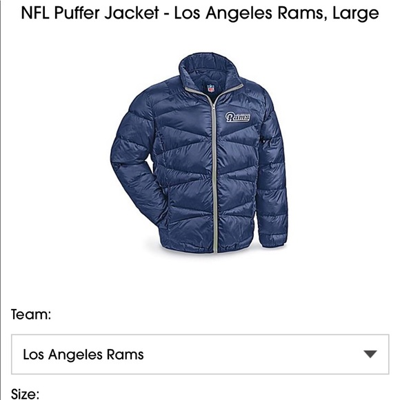 the best attitude 6e5ee cabd0 Los Angeles Rams Uline Puffer Jacket